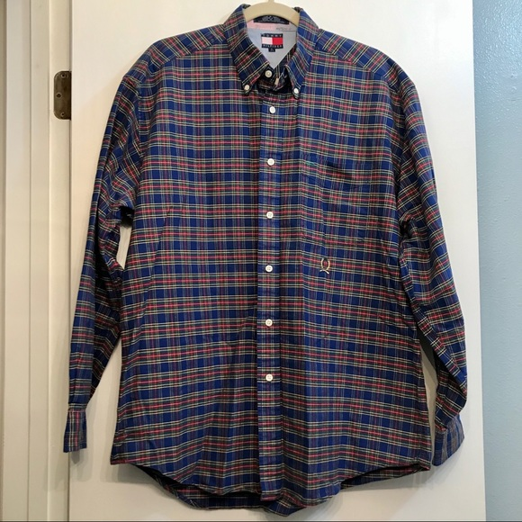 Tommy Hilfiger Other - Vintage Thick Tommy Hilfiger Plaid LS Button Down